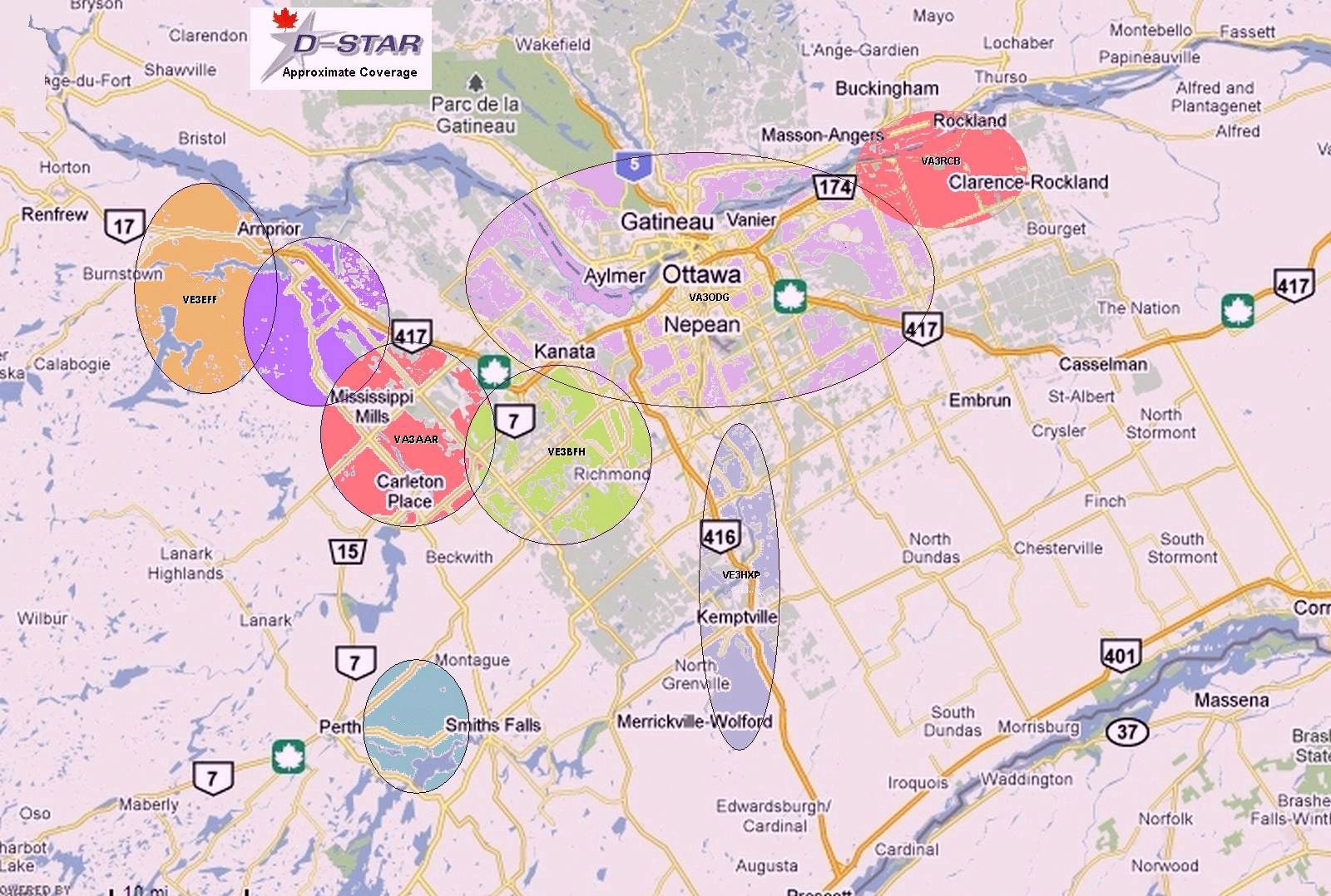 Coverage map Ottawa